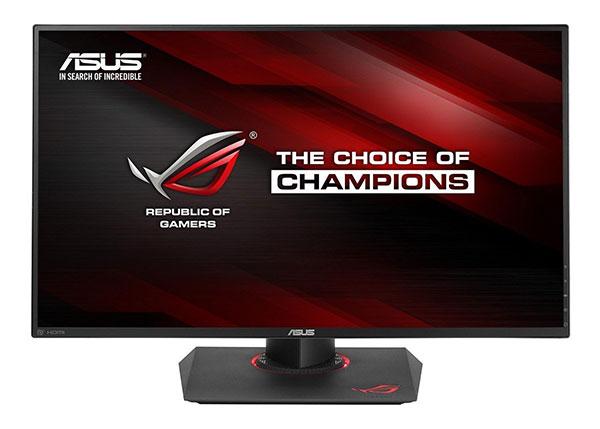 monitor per giocare asus rog color rosso